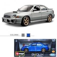 Modèle réduit - Subaru Impresa WRX - Collection Bijoux - Echelle 1/24 : Bleu