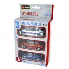 Modèles réduits Urgence : Set de 3 véhicules : Echelle 1/43
