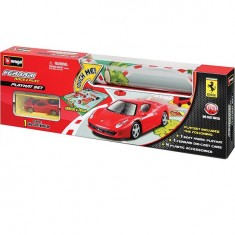 Tapis de jeu : Circuit de voitures 100 x 70 cm : Ferrari