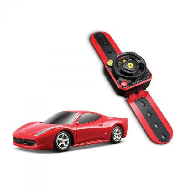 voiture radiocommand e ferrari montre r c echelle 1 36 458 italia rouge jeux et jouets. Black Bedroom Furniture Sets. Home Design Ideas