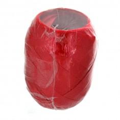 Décoration de cadeaux : Bolduc oeuf satiné vendu à l'unité : Rouge