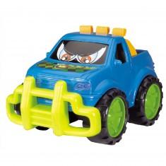 Voiture 4x4 : Drôle de voiture bleue