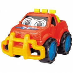 Voiture 4x4 : Drôle de voiture rouge