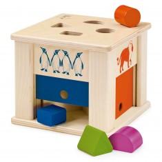 Boîte à formes animaux en bois
