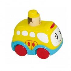 Petit véhicule Press and Go : Bus jaune