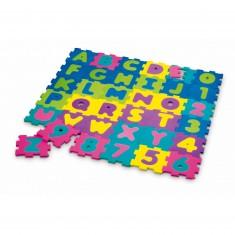 Dalles en mousse alphabet/chiffres : 36 pièces