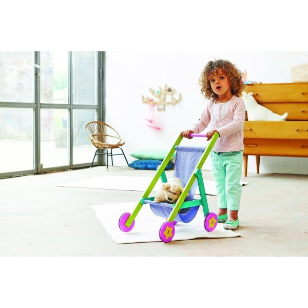 poussette en bois pour poup e jeux et jouets boikido avenue des jeux. Black Bedroom Furniture Sets. Home Design Ideas