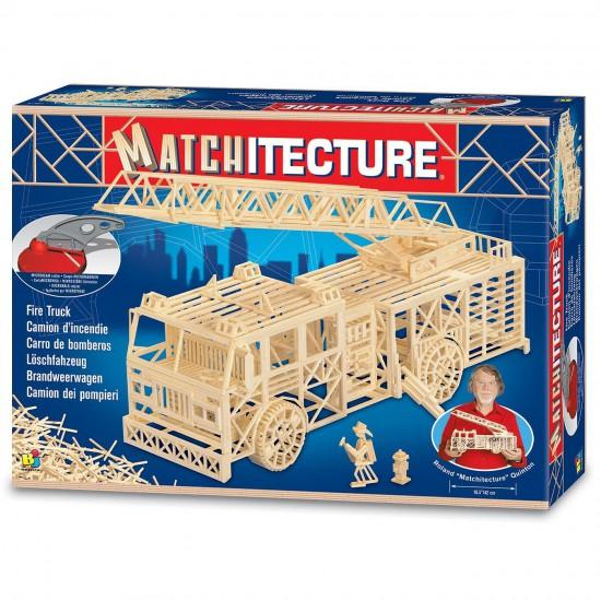Maquette en allumettes : Matchitecture : Camion de pompier - Bojeux-6615