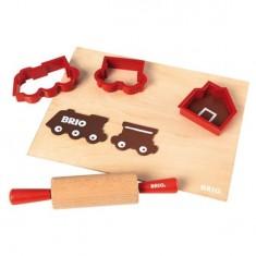 Kit du pâtissier - Rouleau à pâtisserie, emporte-pièces et planche de travail