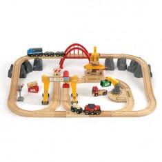 Train Brio : Circuit grues et chargements