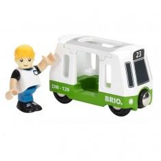 Tramway et voyageur Brio