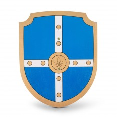 Bouclier de chevalier en bois