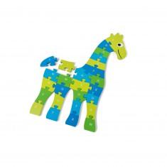 Puzzle éducatif girafe : Alphabet et chiffres