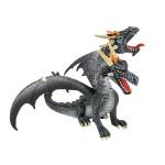 Figurine Dragon à deux têtes : Noir