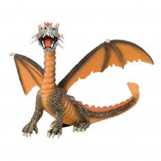 Figurine Dragon orange assis