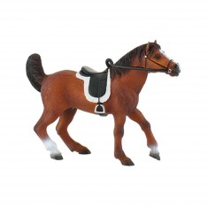 Figurine cheval : Etalon arabe avec selle