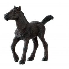 Figurine cheval : Poulain frison