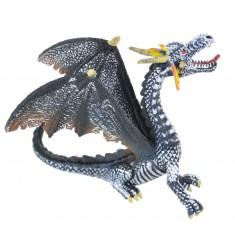 Figurine Dragon : Noir et argent