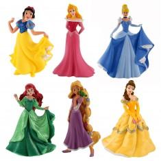 Figurines Princesses Disney : Coffret 6 figurines
