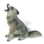 Figurine Loup assis : Deluxe
