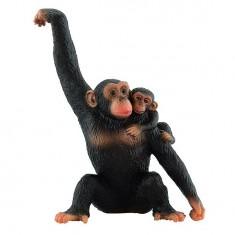 Figurine Singe : Chimpanzé avec bébé