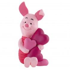 Figurine Winnie l'ourson : Porcinet avec coeurs