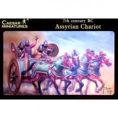 Maquettes chariots de guerre assyriens avec figurines: VIIème siècle av. JC