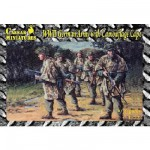 Figurines 2ème Guerre Mondiale : Fantassins Allemands avec toile de camouflage 1944-1945