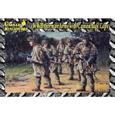 Figurines 2ème Guerre Mondiale : Fantassins Allemands avec toile de camouflage 1944-1945 - Caesarminiatures-CMHB004