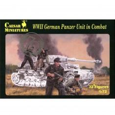 Figurines 2ème Guerre Mondiale : Equipages de Panzer Allemand