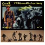 Figurines 2ème Guerre Mondiale : Infanterie Africa Korps allemande 1941-1942