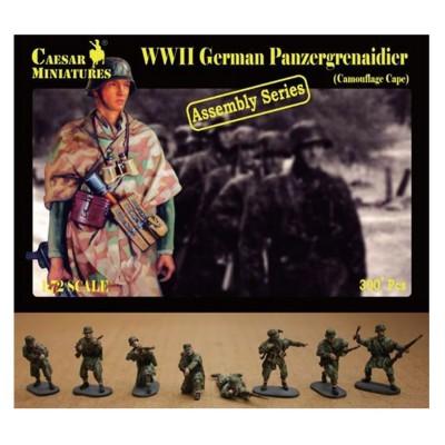 Figurines 2ème Guerre Mondiale : Infanterie allemande Toile camouflée 1944-1945 - Caesarminiatures-CM7717