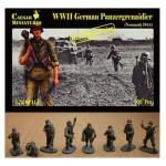 Figurines 2ème Guerre Mondiale : Panzergrenadiers allemands Normandie 1944