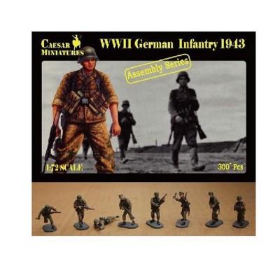 Figurines 2ème Guerre Mondiale : Panzergrenadiers SS 1943 - Caesarminiatures-CM7711
