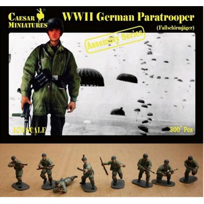 Figurines 2ème Guerre Mondiale : Parachutistes allemands 1940-1941 - Caesarminiatures-CM7712