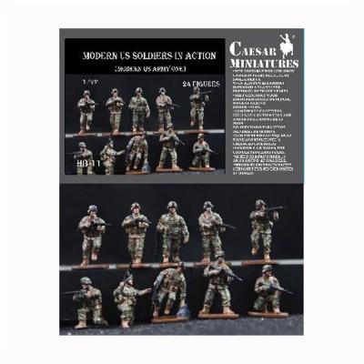 Figurines militaires soldats US Army époque moderne en action - Caesarminiatures-CMHB011