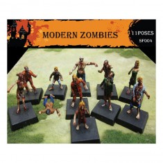 Figurines pour maquettes : Modern Zombies