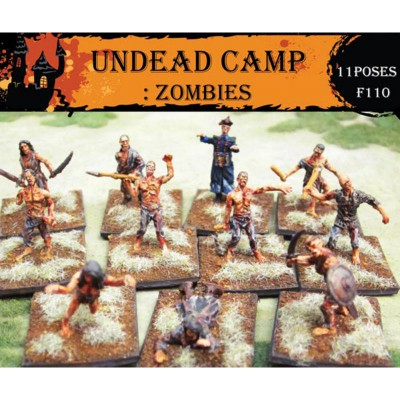 Figurines pour maquettes : Zombies - CaesarMiniatures-CMF110