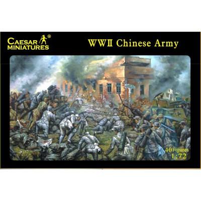 Figurines 2ème Guerre Mondiale : Infanterie chinoise 1941-1945 - Caesarminiatures-CM036