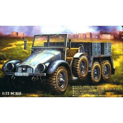 Maquette camion léger allemand Krupp Protze Kfz.69 avec figurines - Caesarminiatures-CM7203