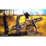 Maquette Canon allemand SiG 33 150mm avec figurines artilleurs