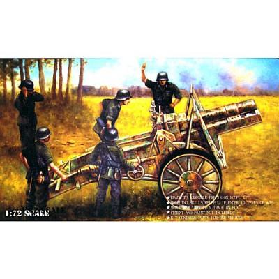 Maquette Canon allemand SiG 33 150mm avec figurines artilleurs - Caesarminiatures-CM7202
