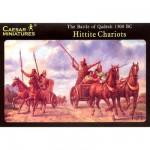 Maquettes chariots de guerre Hittites avec figurines: Bataille de Quadesh 1275 av. JC