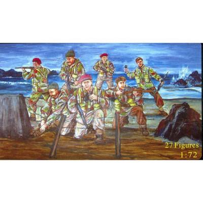 Figurines 2ème Guerre Mondiale : Commandos britanniques  - Caesarminiatures-CM073