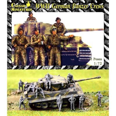 Figurines 2ème Guerre Mondiale : Equipage de blindes allemands 1943-1945 - Caesarminiatures-CMHB003