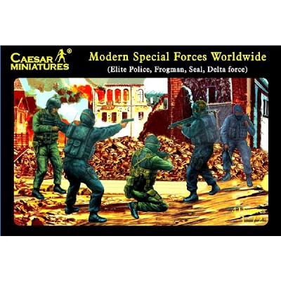 Figurines militaires: Forces spéciales Pays Occidentaux 2008 - Caesarminiatures-CM061