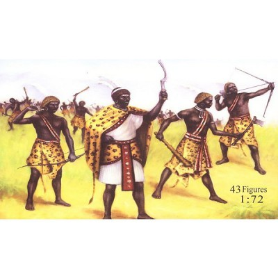 Figurines guerriers Nubiens : 1250 av. JC - Caesarminiatures-CM049