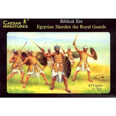 Figurines guerriers Sherden de la Garde royale égyptienne : Vers 1060 av. JC - Caesarminiatures-CM050