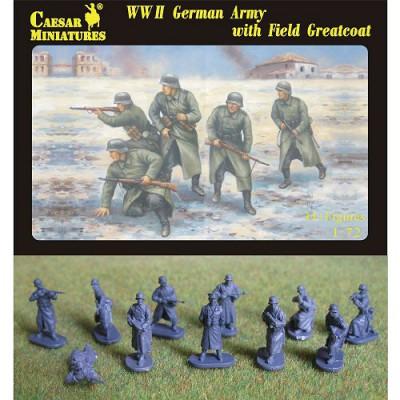 Figurines 2ème Guerre Mondiale : Infanterie allemande en manteaux d'hiver 1940-1942 - Caesarminiatures-CM069
