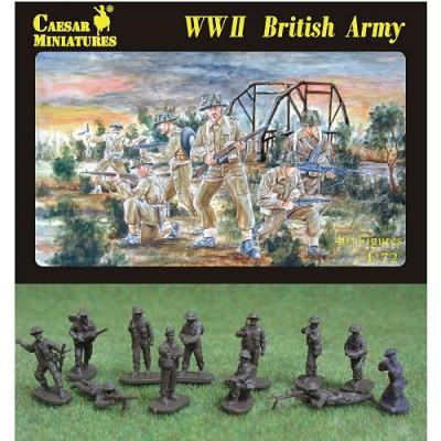 Figurines 2ème Guerre Mondiale : Infanterie britannique 1944-1945 - Caesarminiatures-CM055
